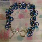 Chainmaille Bracelet Blue Purple Si..