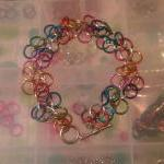 Simple Chainmaille Bracelet Rainbow..