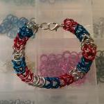 Patriotic Chanmaille Bracelet made ..